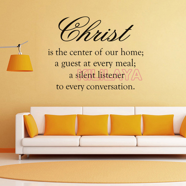 Christian Christ Is The Centre Of Our Home Vinyl Wall Sticker Wall ...