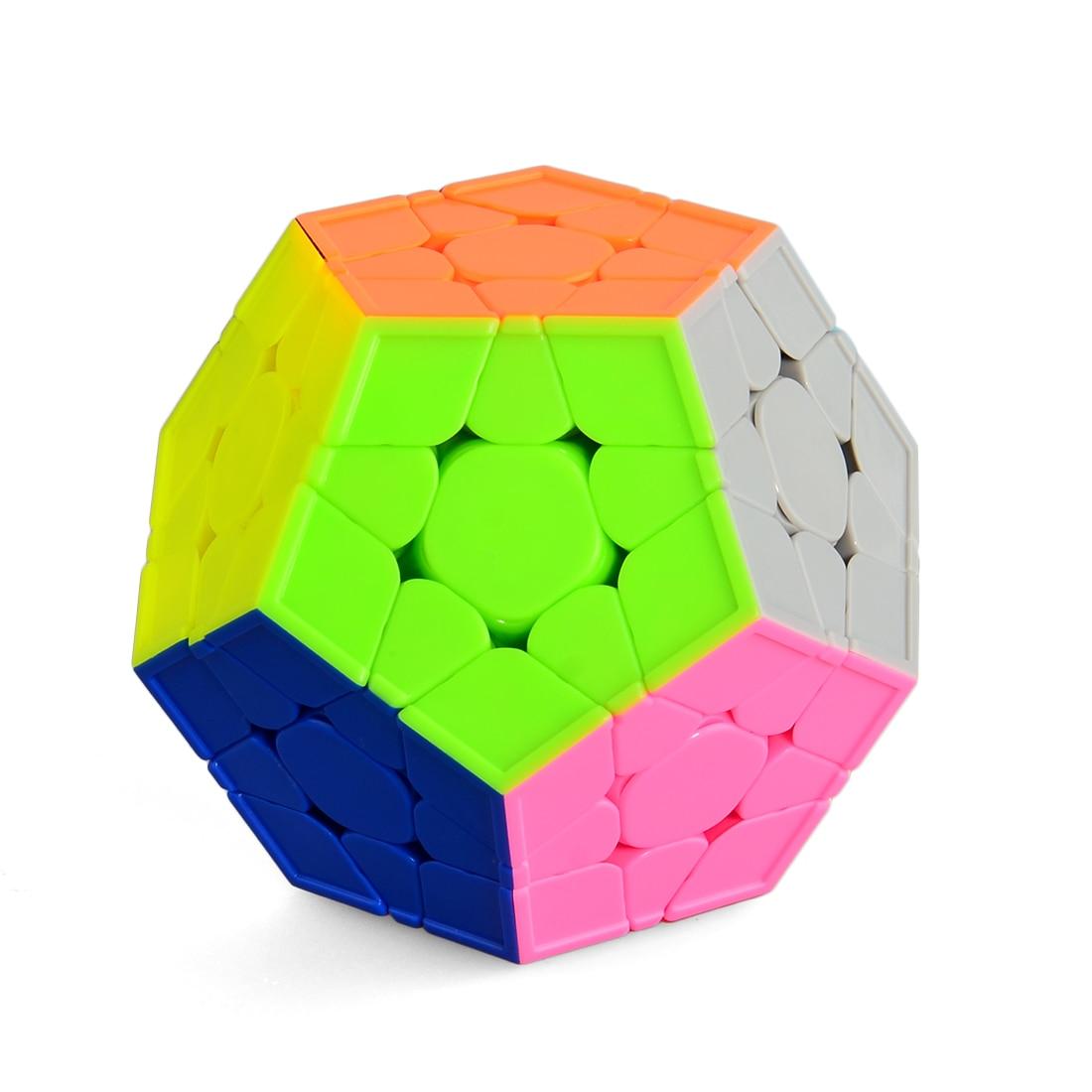 Lisse Durable Vitesse Megaminx Cube 3x3 Dodécaèdre Teasers Puzzle Cube Jouets Pour Enfants-Coloré