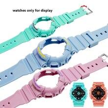 เปลี่ยนยางสายรัดCASIO BABY GนาฬิกาBA 111 110112120 ชุดกรณีซิลิโคนสร้อยข้อมือสายรัดข้อมือ