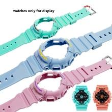 Cinturino in gomma di ricambio fit CASIO BABY G orologio con BA 111 110112120 vestito custodia in silicone braccialetto braccialetto femminile