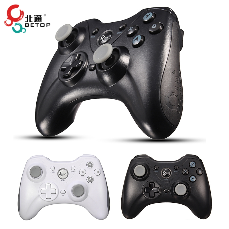 BETOP BTP-2171QN Bluetooth Gamepad Intelligent Wireless Game Handle Controller 6 Axle for PC/Tablet Black White Colors fifty shades darker