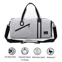 2019 Gym Bags Men Built in Dry Bag Waterproof Handbags Shoulder Bag For Shoes Training Fitness Travel Swim sac de sport Women