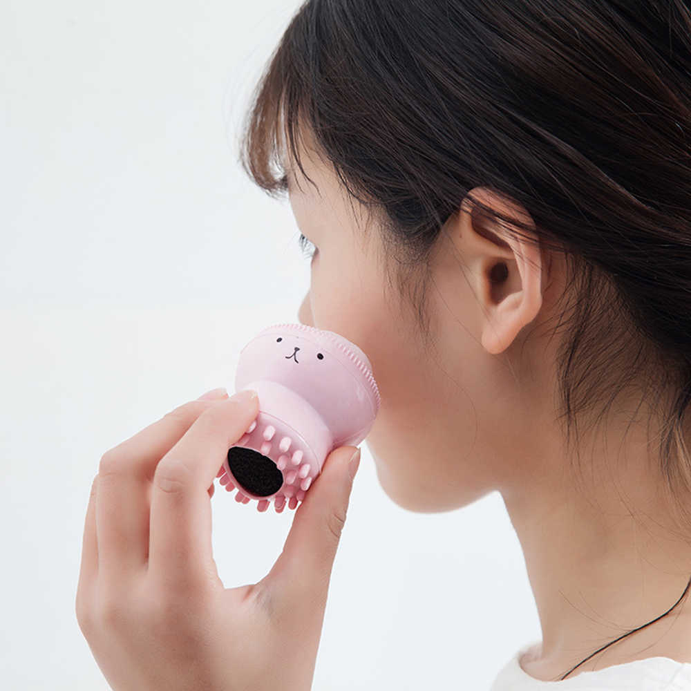 Силиконовая кисть для очистки дица очищающее средство для лица Очиститель пор отшелушивающий скраб для лица стиральная кисть для ухода за кожей маленький осьминог Shape2019