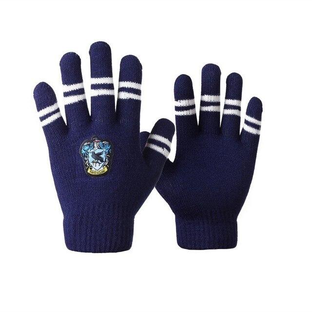 Gryffindor / Slytherin / Hufflepuff / Raven Carat winter warm Gloves Multicolor College Style Series Gift Boys Girls Gloves