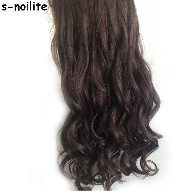 17 Inches Long Curly 34 Full Head Clip In On Hair Extensions Black
