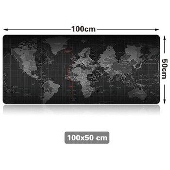 Новый хит продаж очень большой коврик для мыши старый мир карта игровой коврик для мыши Противоскользящий натуральный резиновый игровой ко...