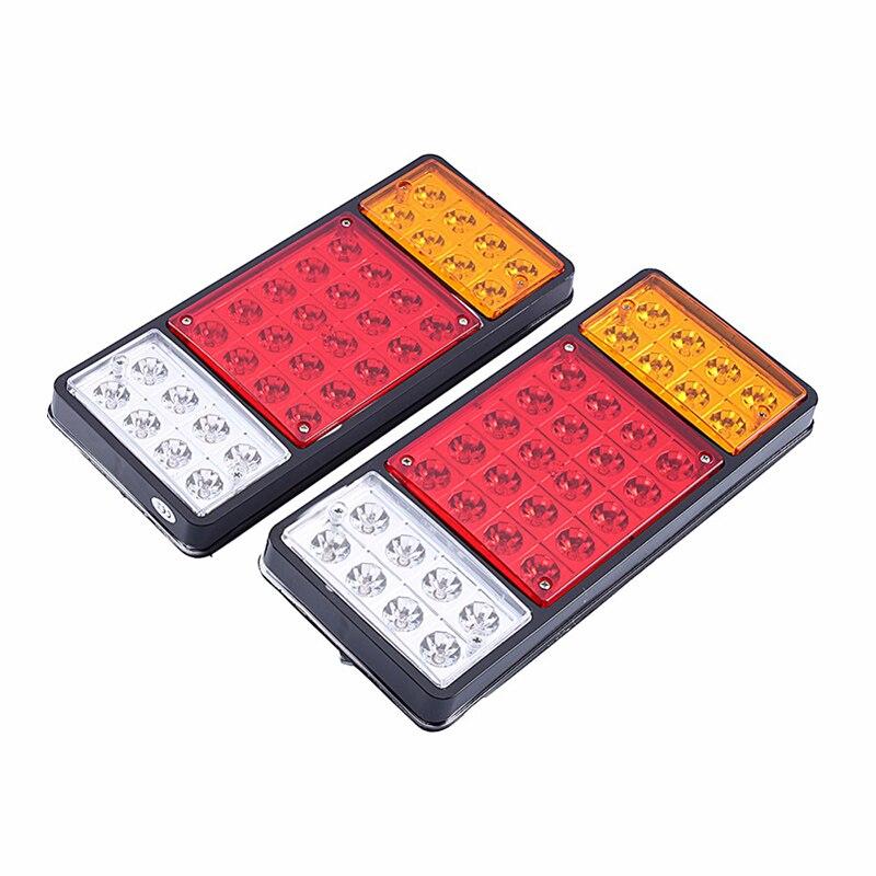 1 paire 36 LED feux arrière camion 12 V 24 V remorque feu arrière clignotant feux arrière voiture rouge jaune blanc