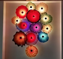 Beautiful Decoration Colorful Blown Glass Dale Chihuly Murano Flower  Hanging Plates