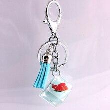 Liga de Zinco de Cristal de vidro Moda Coreana Fivela Acessórios Do Carro chaveiro em lote conjunto da cadeia de moda chave da cadeia de telefone Móvel 5