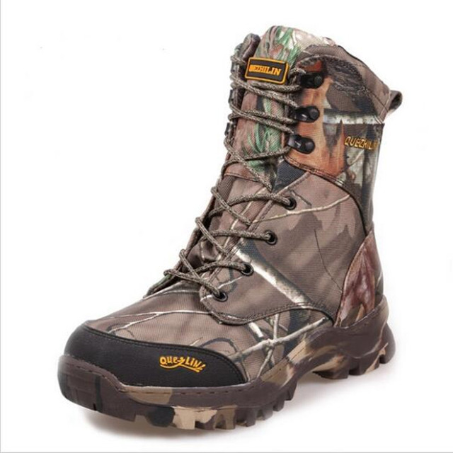 Camo Hunting Boots Realtree AP Camouflage Winter Snow Boots Waterproof,Outdoor Camo Boot Hunting Fishing Shoes Size 39-44