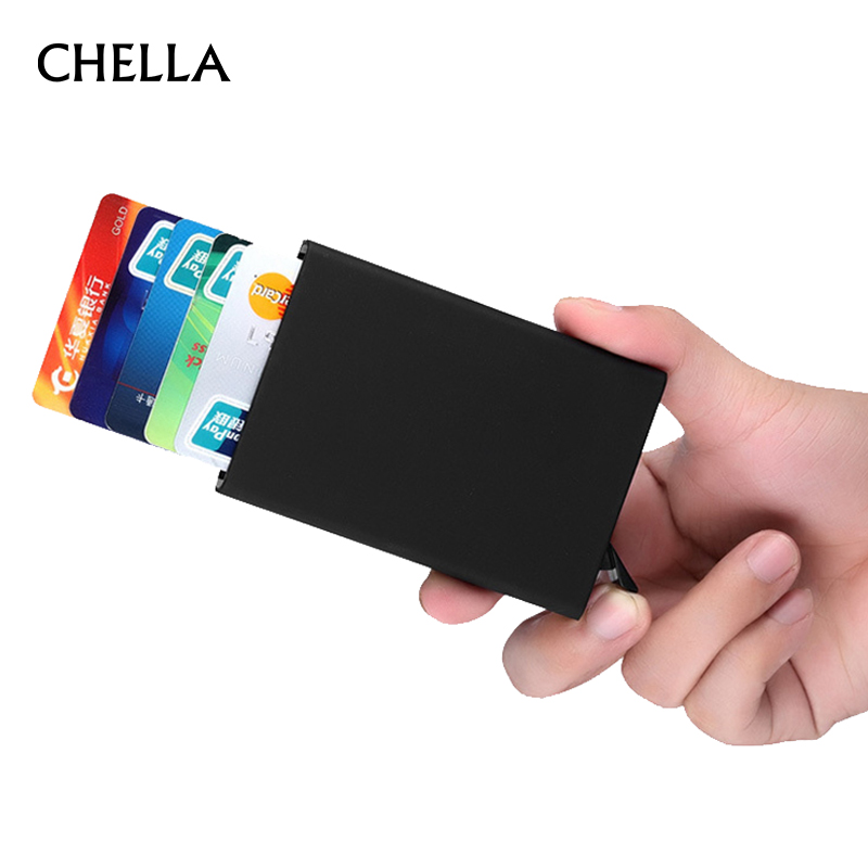 Credit Card Holder Stainless Steel Men Women Waterproof Fashion ...