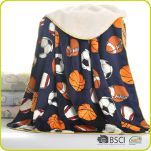 2 Double layer super soft cashmere fleece printing leisure blanket