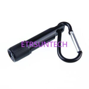 Image 5 - 500pcs/lot Mini 1 LED Flashlight Carabiner Torch Clip Keychain Camping Lamp Hiking Hook Key Chain Flash light Free laser logo