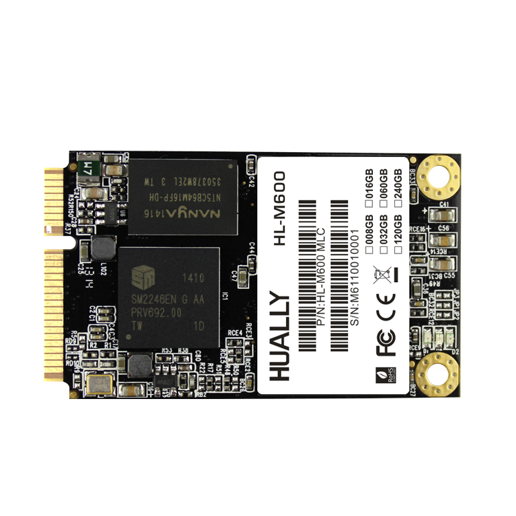 Hually MSATA3 SSD 3*5 cm 32 GB 60 GB/64 GB 120 GB/128 GB 240 GB marque 450/200 MB/S Plus Haute Performance mini PCIE SSD mSATA Solid state