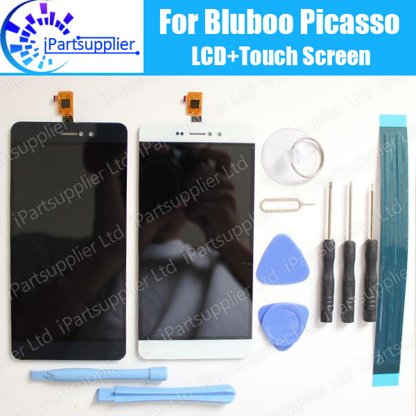 Bluboo Picasso LCD Display+Touch Screen 100% Original LCD Digitizer Glass Panel Replacement For Bluboo Picasso tools+ Adhesive