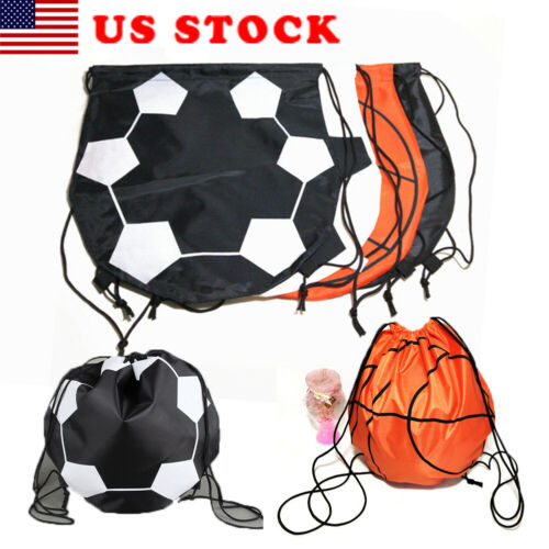 Portable Outdoor Sports Gym Bag Kids Adults Football Basketball Beam Rope Bag Drawstring Bag Shoulder Bags