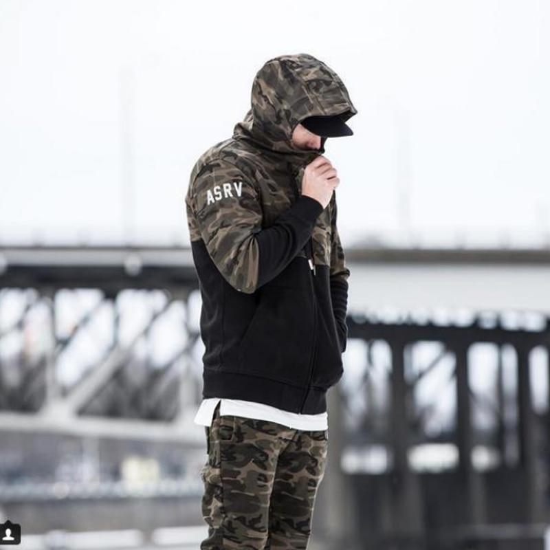 2018 männer Casual Hosen Camouflage Print Baumwolle Hosen Kordelzug - Herrenbekleidung - Foto 4