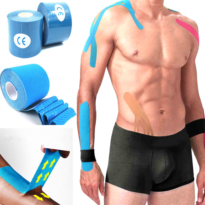 5MX2.5CM Sports Elastic Kinesiology Tape Roll Physio Muscle Strain Injury Care Bandage Support BB55
