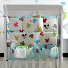 Promotion Cartoon 62 52cm Baby Bed Hanging Storage Bag Newborn Diaper And Toys Pocket Cotton Buggy