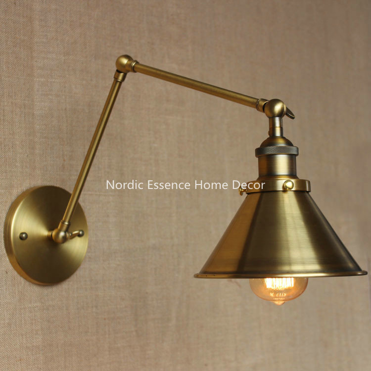Nordic Designers paragraph American country pastoral retro bronze wall sconce warehouse restaurant cafe hotel aisle wall lamp