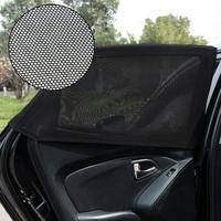 VODOOL 2pcs Auto Car Side Window Sun Shade Mesh Car Cover Shield Sunshade UV Protection For