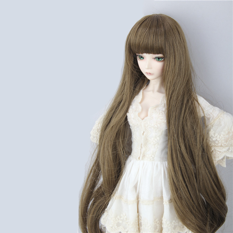 Dolls & Stuffed Toys Faithful Allaosify Bjd Wig For 3/1 4/1 6/1 High Temperature Fiber Girl Lengthen The Hair For Dolls