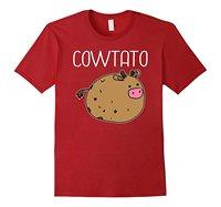 Koe Aardappel Grappige Cartoon T-Shirt Cartoon Dieren Gedrukt Grappige T-shirt Vrouwen Merk Kleding Zwart Hiphop T-shirt Hot Selling