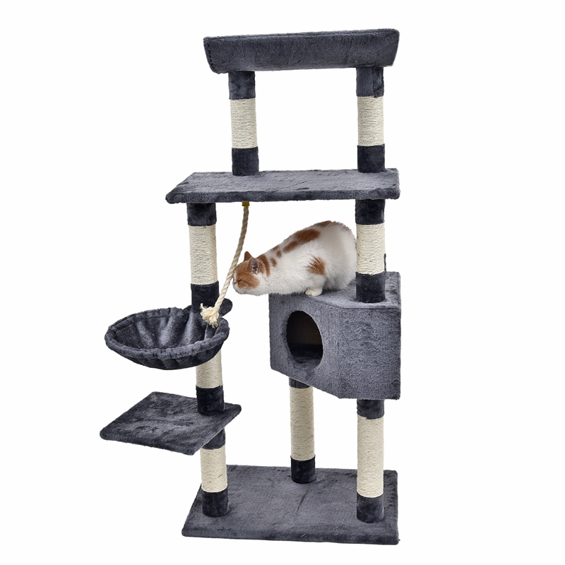 New Coming Pet Funny Toy Kitten Climbing Toy Simple and Cool design Long Fluff Material Comfortable and Soft Board Pet Product