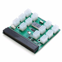 1pc 1200w 750w 12 Ports Breakout Board For HP PSU GPU Mining Ethereum ZEC ZCASH ETH