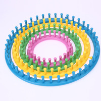 4 Size Classical Round Circle Flower Loom Hat Knitter Knitting Knit Loom Kit With Hook And