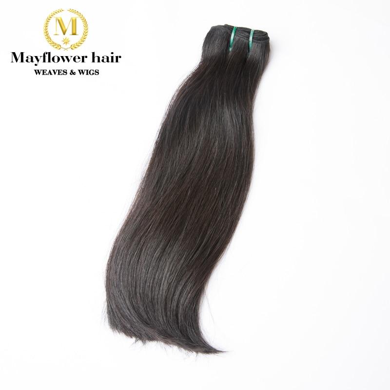 Mayflower 1 Faisceau Super Double drawn Vietnamien cheveux raides naturel noir peut être l'eau de javel Unique Funmi cheveux 8-18 pas de cheveux courts