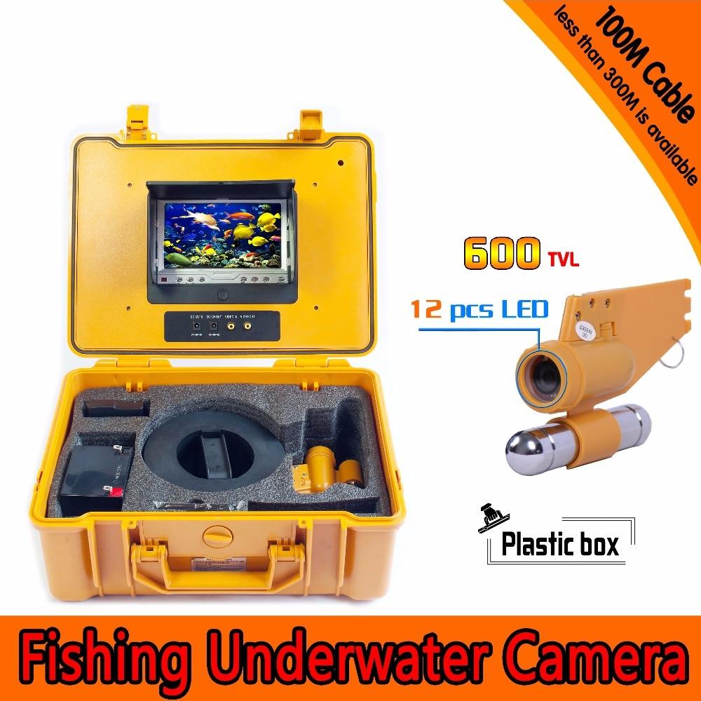 7 Inch Under Water 100M HD 600TVL DVR AV Endoscope Camera 360 degree rotaton under water 50m dvr fishing camera av handheld endoscope