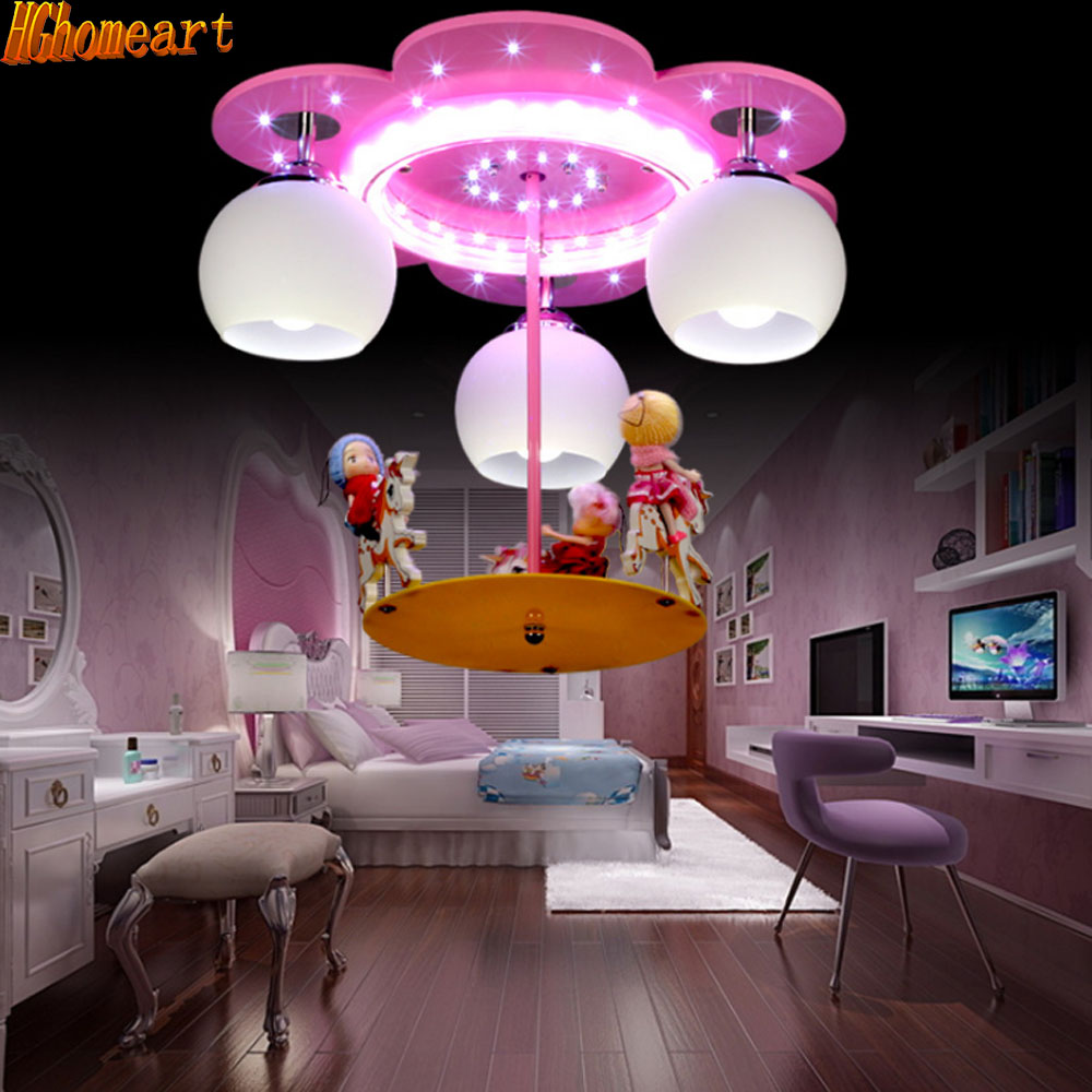 Children U0027s Room Lighting Dream Merry Horse Led Chandelier Warm Male Girl  Bedroom Lamp Creative