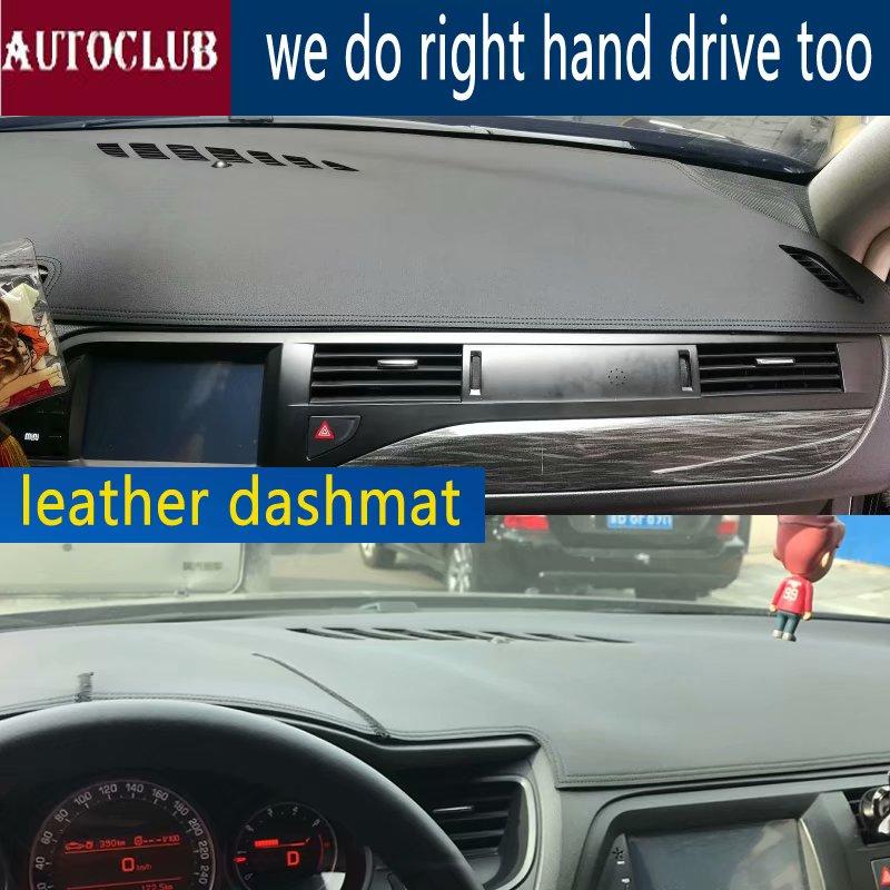 Pour citroën C5 2008 2009 2010 2011 2012 2013 2017 2016 cuir Dashmat couverture de tableau de bord voiture Pad Dash Mat parasol tapis couverture