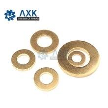 Gasket-Ring Disc-Washer Brass-Pad Flat-Dollar-Sheet Copper Meson-Had Metal M4 50pcs M5