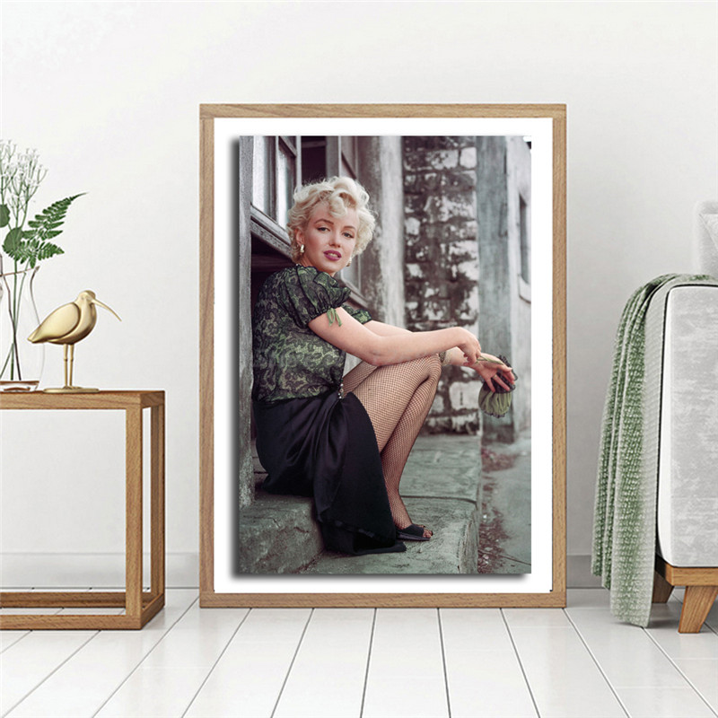 Home Decoration Wall Art Prints Canvas Painting Actor Marilyn Monroe Pictures Nordic Style Modular Modern Poster For Living Room image