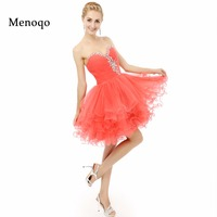 New 2015 Homecoming Dress Beaded Crystal Ball Gown Short Tulle 8th Grade Graduation Dresses Real Photo