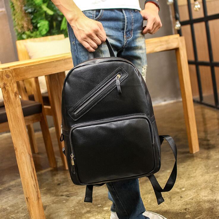 Mens Nuovo Vendita Style Preppy Studente Zaino Black Sacchetto Borsa 102016 Scuola Di Calda UqqtrwSYEx