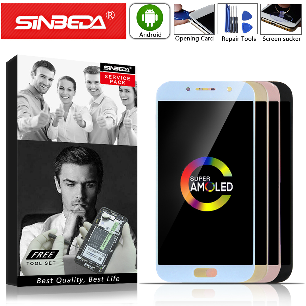 5.2Sinbeda AMOLED For SAMSUNG Galaxy A5 2017 LCD Display Touch Screen Assembly For SAMSUNG A520 LCD A520F A520M A520 Display @5.2Sinbeda AMOLED For SAMSUNG Galaxy A5 2017 LCD Display Touch Screen Assembly For SAMSUNG A520 LCD A520F A520M A520 Display @