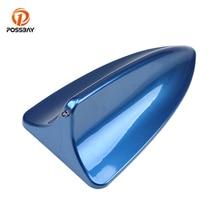 Posbay Универсальная автомобильная антенна плавник акулы синяя крыша украшение в виде антенны для Benz VW Ford Alfa Киа Renault Shark Aerial