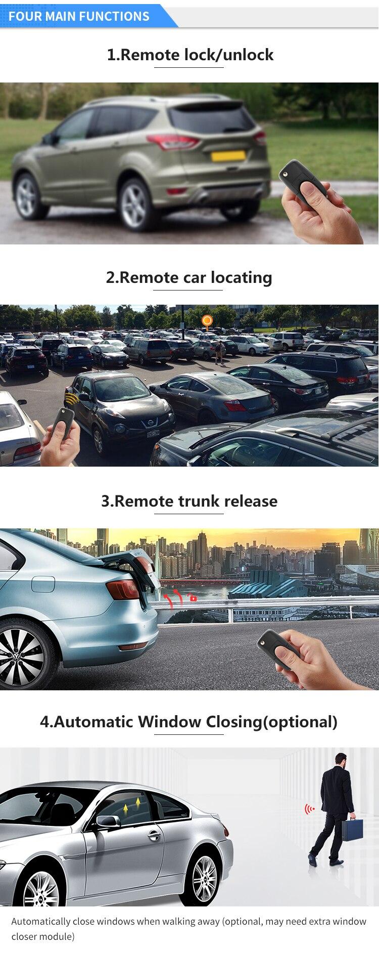 EASTGUARD автомобилей Автозапуск система ключи для удаленной блокировки автомобиля для прицепа отрицательный окно выходн