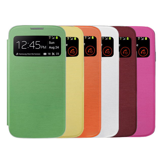 huge discount a97e1 70f93 US $2.99 |S View Cover Flip Case with Window for Samsung Galaxy S4 i9500  i9505 S IV EF CI950 Dirt resistant Mobile Phone Case Covers Capas-in Flip  ...