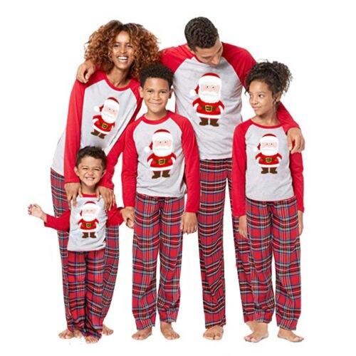 92f470af3d Family Matching Christmas Pajamas Set Men s Women Baby Kids Sleepwear  Nightwear-in Pajama Sets from Underwear   Sleepwears on Aliexpress.com