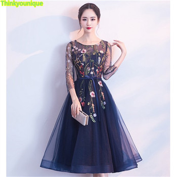 O neck Party Gown Long A line Evening dresses vestido de festa longo robe de soiree vestido de novia abendkleider SA134