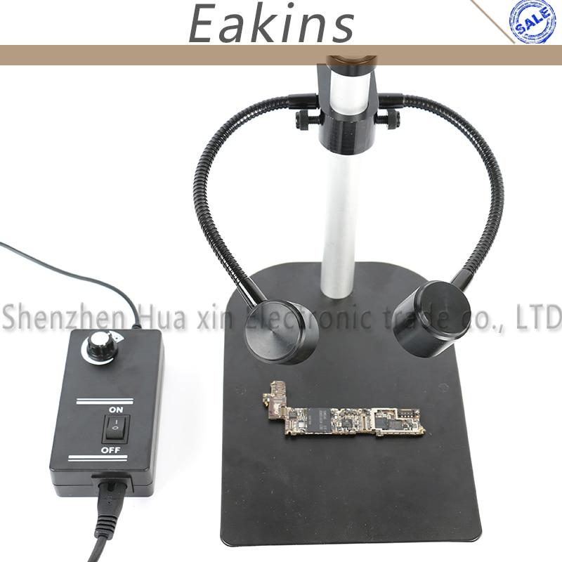 6500K 24 LED Adjustable Ring Side Light illuminator Lamp 100V-240V 22mm or 25.5mm For Video Stereo Microscope Illumination LED