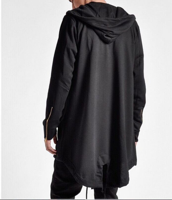 Aliexpress.com : Buy Men black long hoodie hip hop harajuku cardigan  Irregular hooded cloak mens casual extended sweatshirt clothing chandal  hombre from ... - Aliexpress.com : Buy Men Black Long Hoodie Hip Hop Harajuku