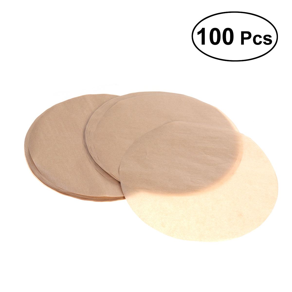 Round Baking Sheet Cookie Cake Liner BBQ Pan Oven Mat Greaseproof Paper Nonstick