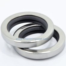 Rotary-Shaft Ring Oil-Seal Sealing-Lip Dual-Ptfe with Stainless-Steel for Compressors