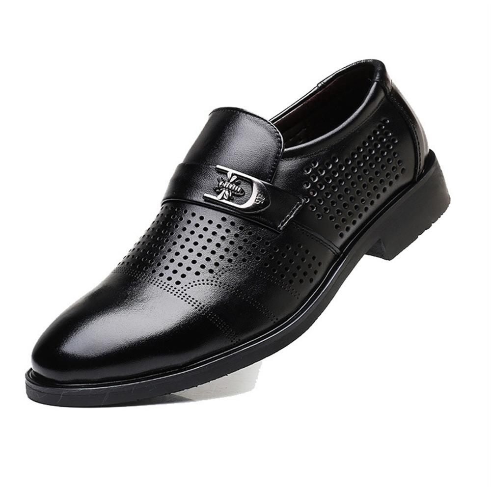 Hollow Outs Breathable Men Formal Shoes Pointed Toe Patent Leather Oxford Shoes For Men Dress Shoes Business ozzeg patent leather oxford shoes for men dress shoes men formal shoes pointed toe business wedding plus size 49 50 rme 308