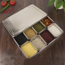JIANDA кухонная Толстая коробка из нержавеющей стали, блюдце, семена закусок, плоский чехол для еды и закусок, посуда с крышкой, 6 стилей